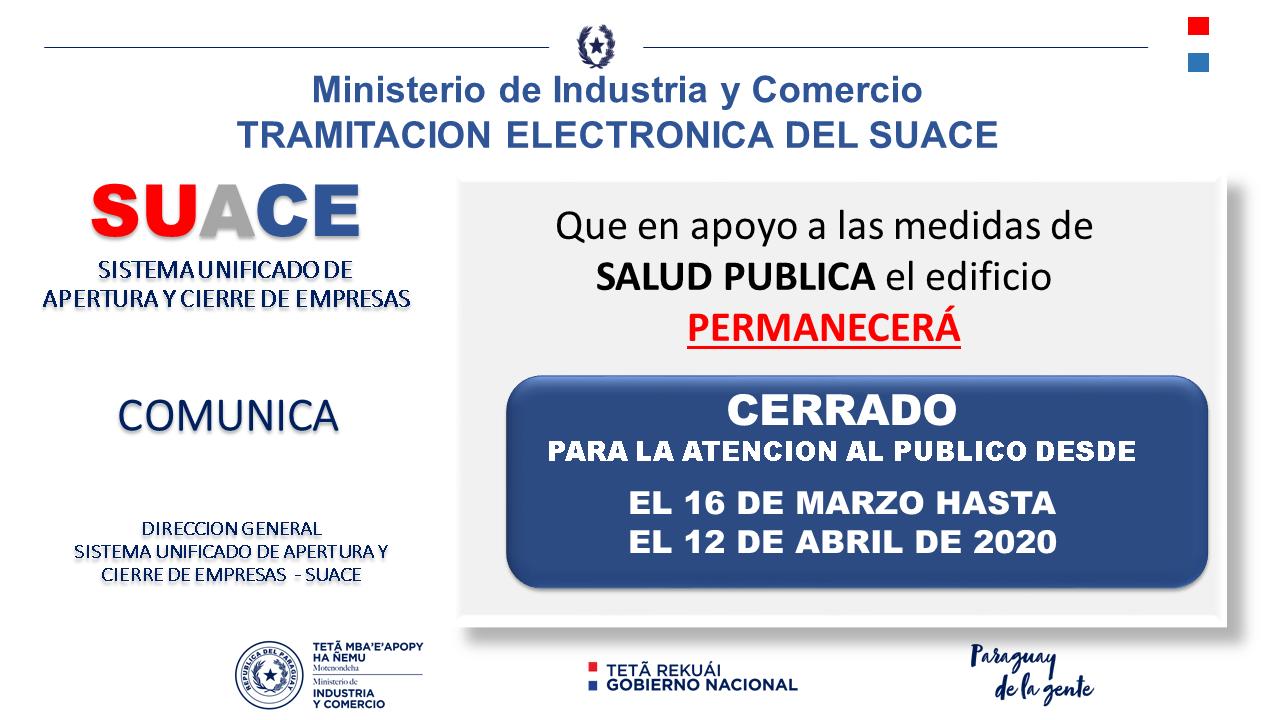 COMUNICACION CIERRE TEMPORAL 12.04.2020